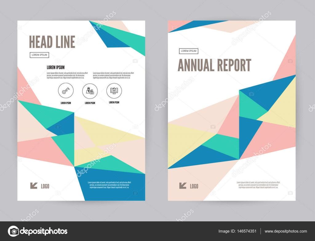 modello di colorato annua rapporto depliant brochure flyer disegno