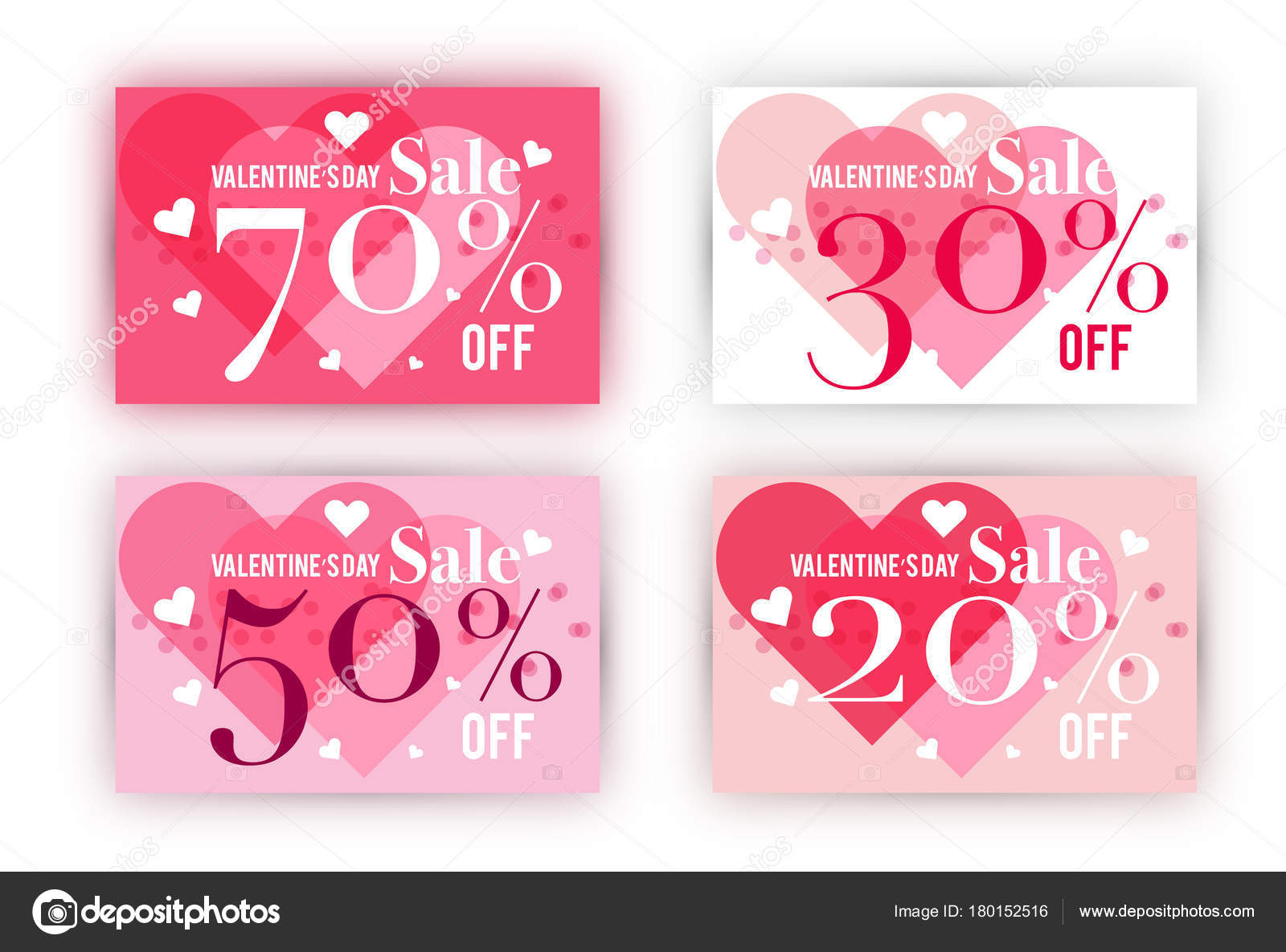 valentine s day sale coupon template set stock vector mangsaab