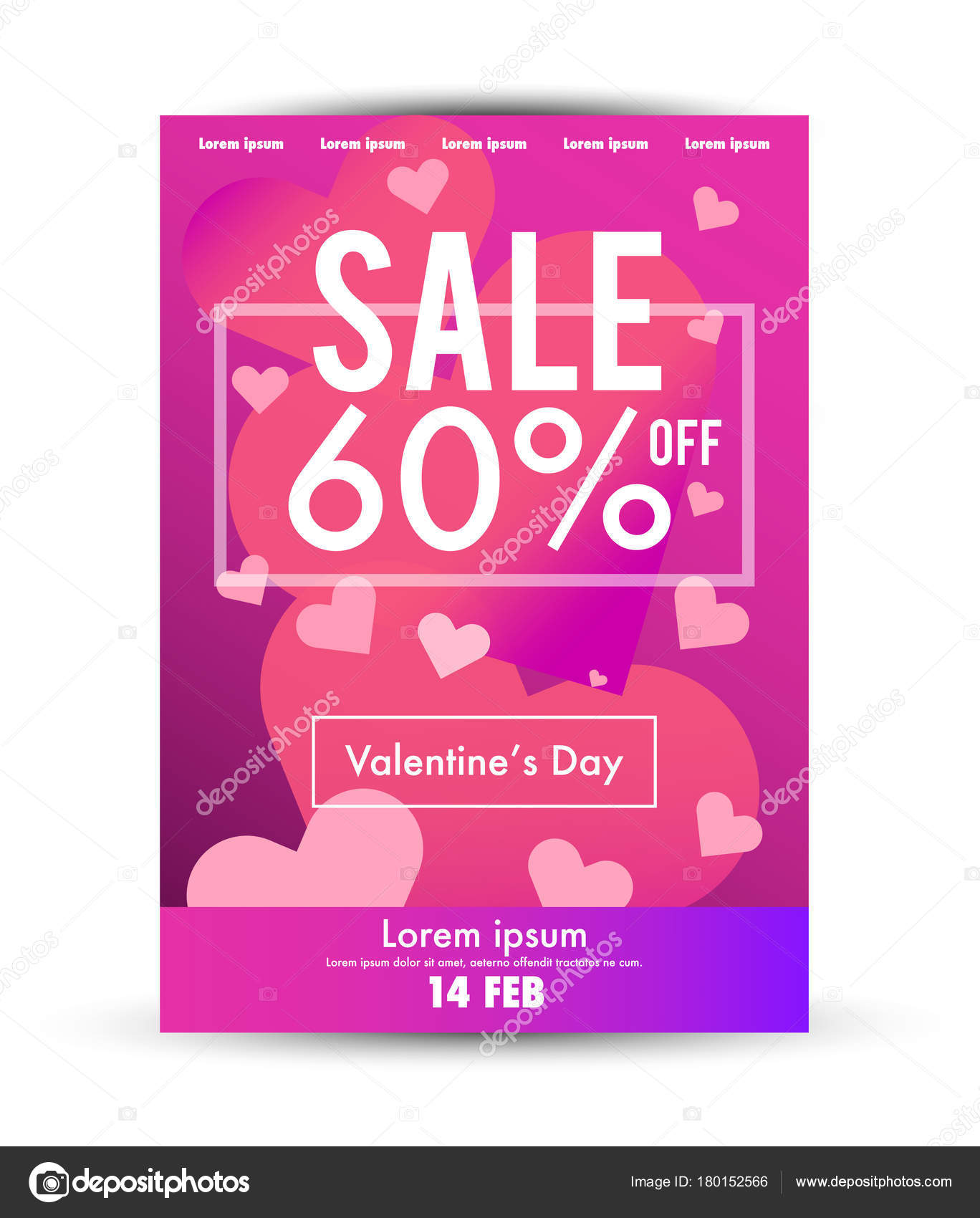 Valentineu0027s Day Sale Poster Template. U2014 Stock Vector  For Sale Poster Template