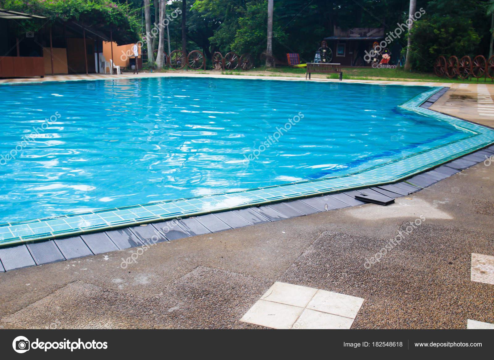Modern Swimming Pool Decorate — Stock Photo © nongamt #182548618