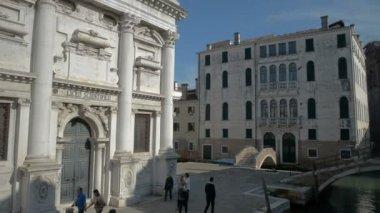 ASCOLI PICENO, ITALY-MAI: Hyper-lapse of Chiesa di San Francesco in Piazza del Popolo