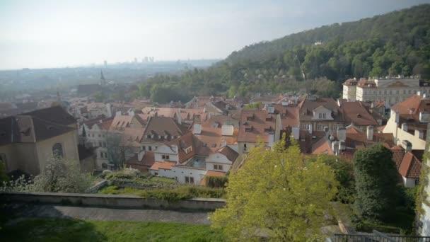 Pohled z Prahy od Pražského hradu na podzim, Česká republika