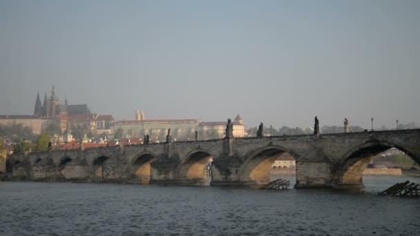 Panorama z Karlova mostu, Praha, Česká republika
