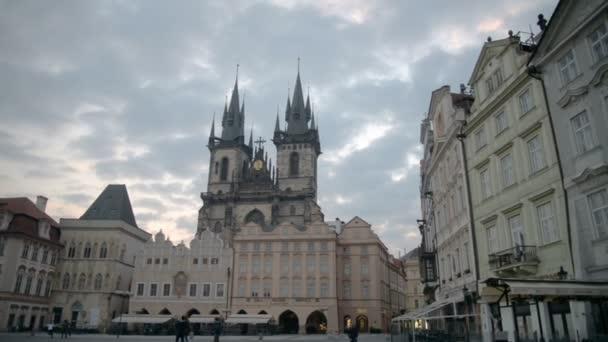 Staroměstské náměstí v Praze, Česká republika, časová prodleva