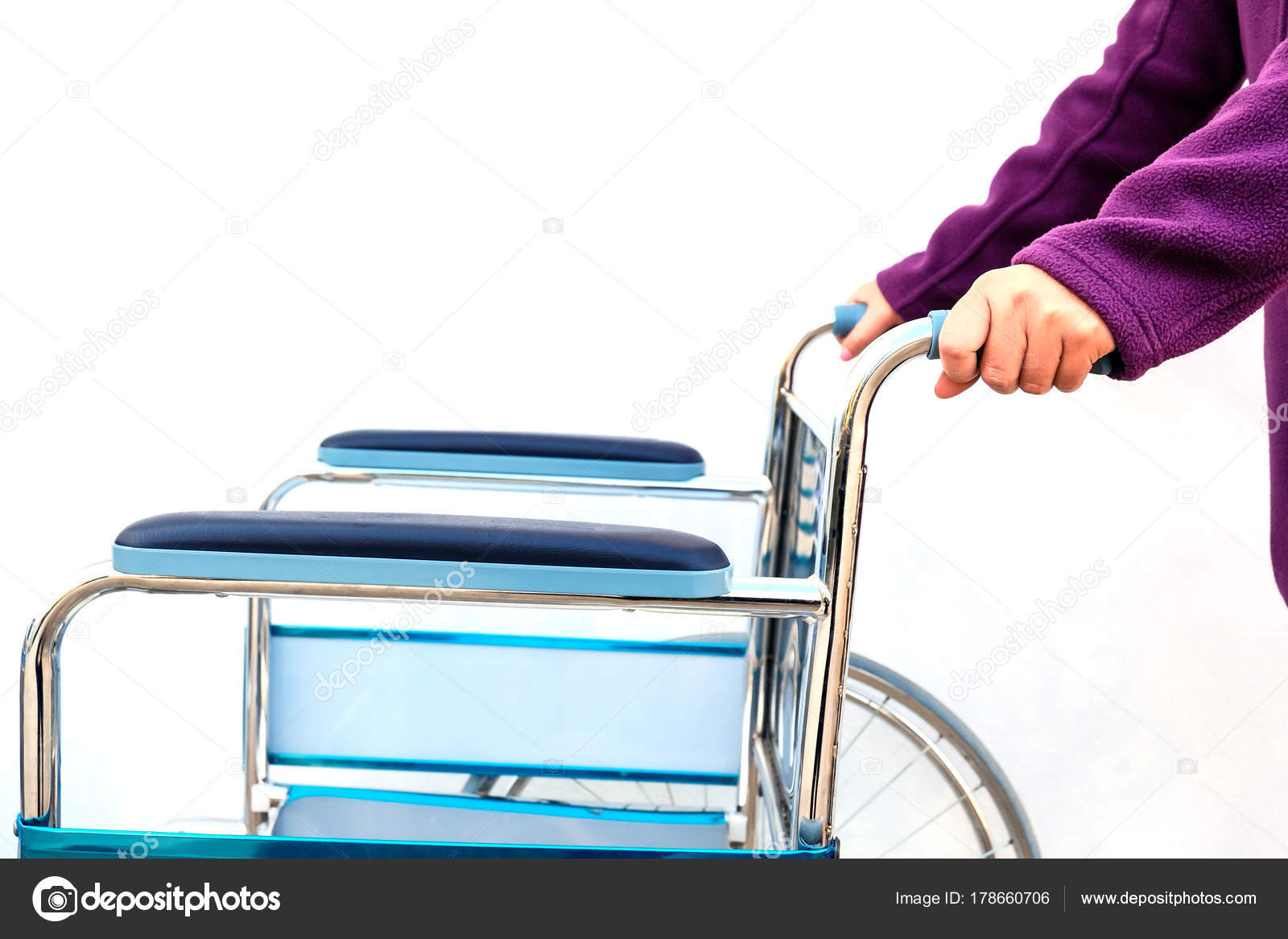 Wheel Chairs Standby Help Old People Health Care — Stock Photo ...