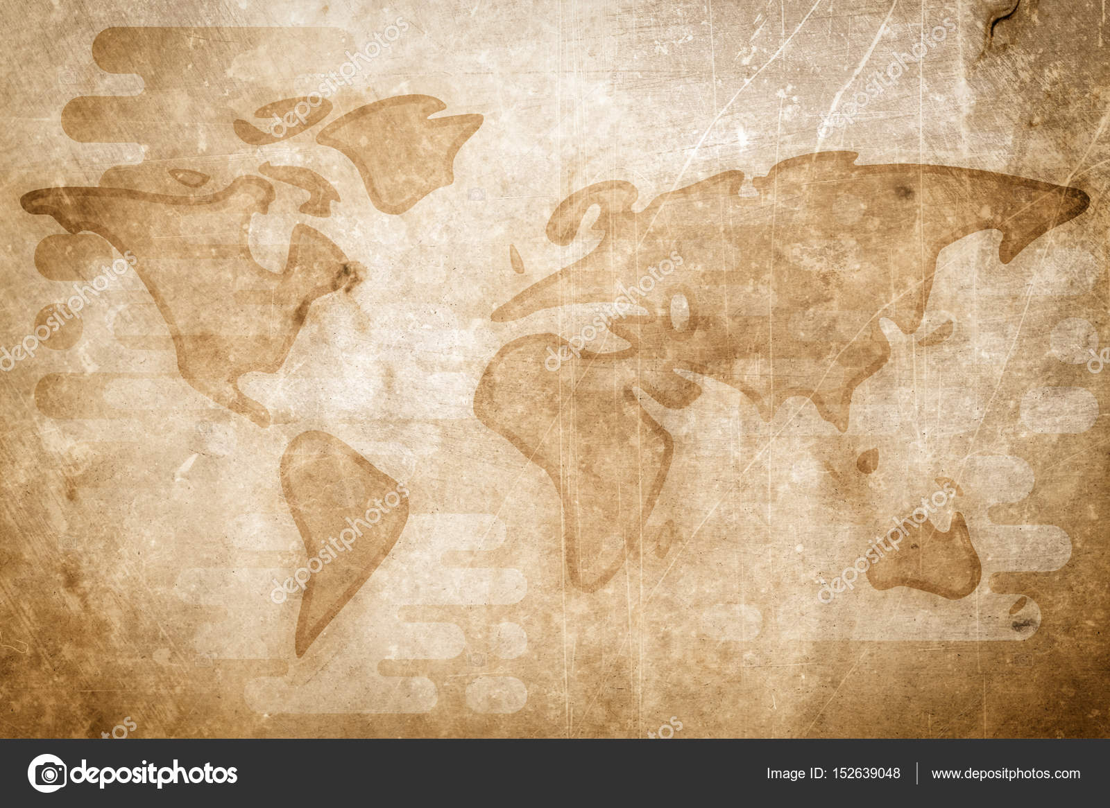 World map cartoon textured flat illustration stock photo world map simple cartoon illustration flat style with textures photo by lisaalisaill gumiabroncs Choice Image