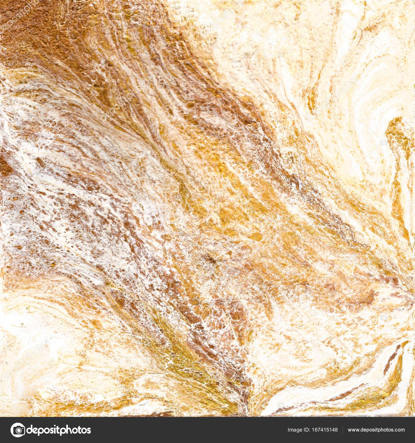 Texture Marbre Blanche Et Dorée Main Dessiner Peinture Avec