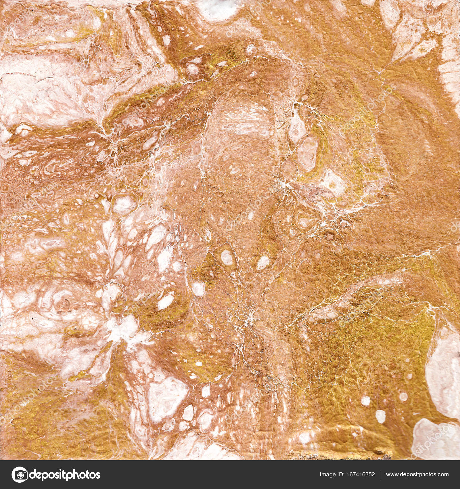 White and golden marble texture Hand draw painting with marbled
