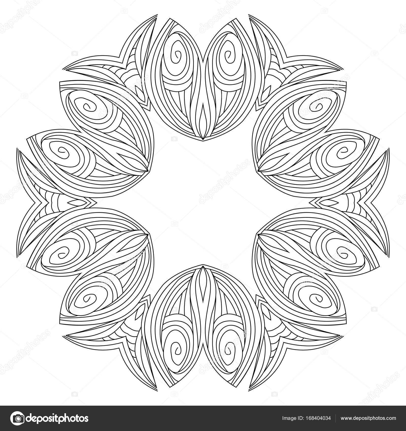 Vectores Geometricos Y Flores Alrededor De Mandala Modelo Oriental