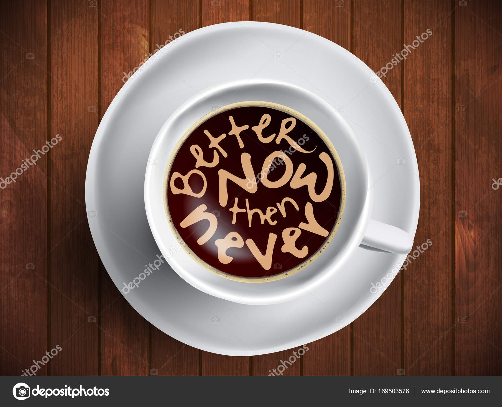 Coffee Cup With Time Lettering Motivation Quotes About Time