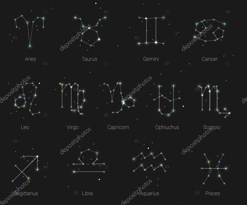 horoskop alle tierkreiszeichen im sternbild stil mit. Black Bedroom Furniture Sets. Home Design Ideas