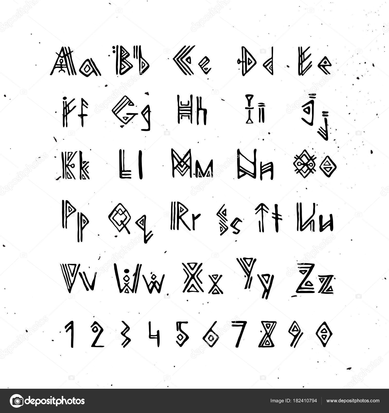 Old norse scandinavian font runic alphabet futhark style letters stock illustration old norse scandinavian font runic alphabet futhark style letters ancient occult symbols biocorpaavc