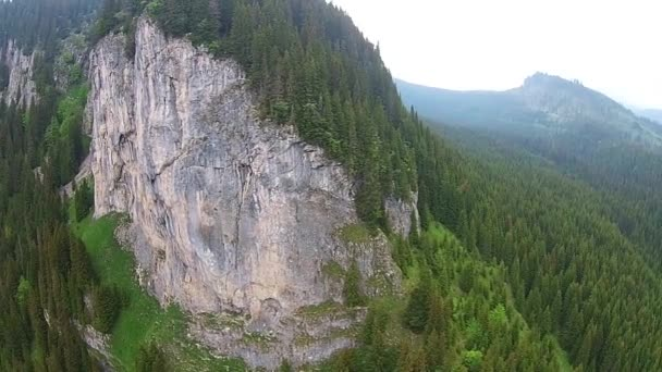Steep cliffs in Carpathian Mountains, Romania