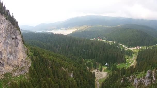 Alpská krajina v Bucegi přírodní Park, Rumunsko, letecký pohled