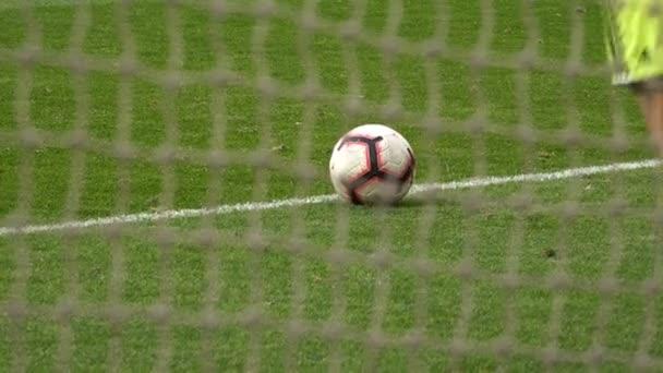 Football match , Goalkeeper knock out a goal kick