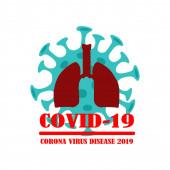 No coronavirus. Picture on a white background. Vector illustration.