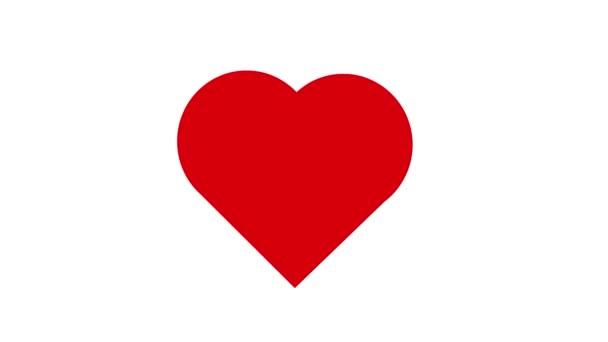 Legyőzte a Vörös Szív ikon animációt. 4k videó