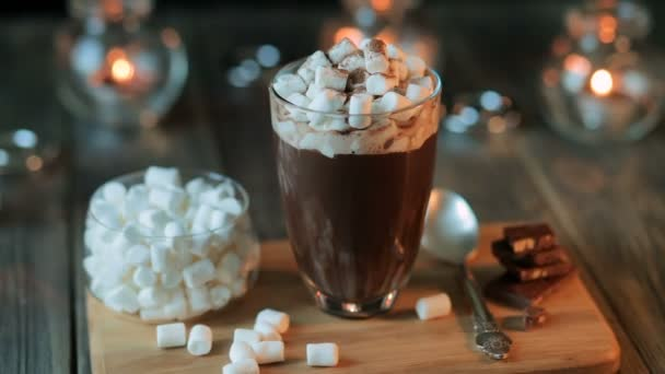 Beautiful Composition Hot Chocolate With Marmalade And Chocolate
