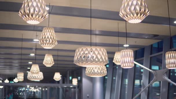 Beautiful wooden geometric modern ceiling lamp interior contemporary decoration
