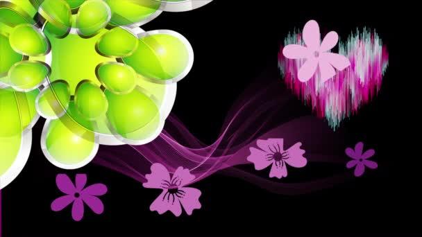művészet design virág és szív elvont háttér