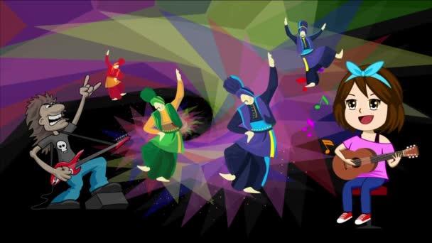 rock zene és tánc party elvont háttér