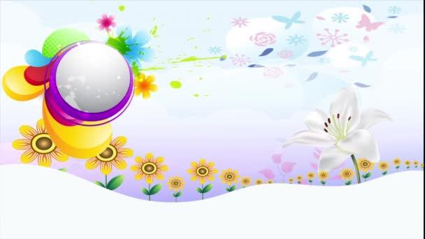 abstrakte Kunst auf floralem Hintergrund