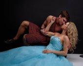Pohledný highlander s jeho princezna