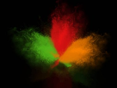Creative tri color Dark Background for holi festival. Happy holi. stock vector