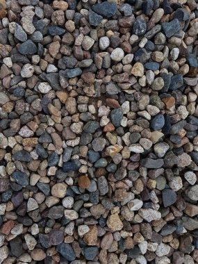 Photo of multi-colored coastal pebbles