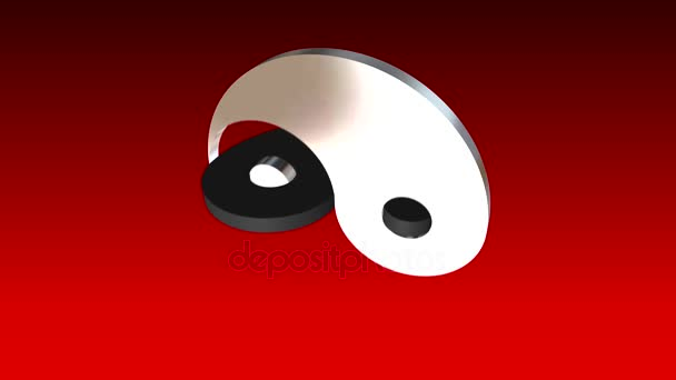 High Quality Animation Yin Yang Symbol Loopable Resolution Stock