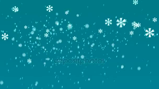 falling snowflakes merry christmas happy new year background set winter stock video