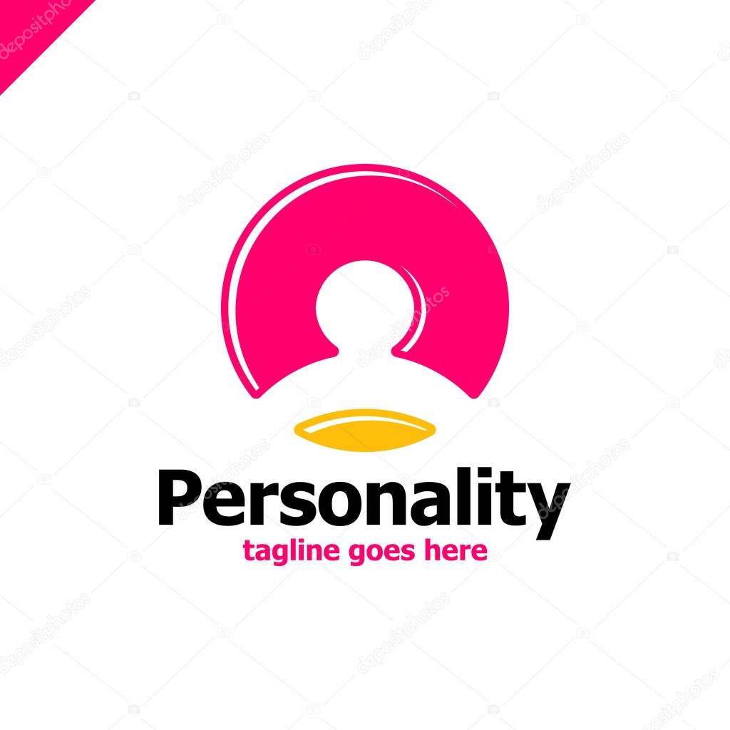 social personality network logo template man accaunt corporate