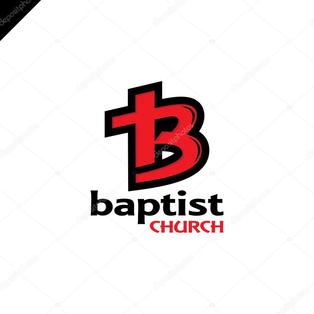 letter b and cross church of jesus christ logo u2014 stock vector