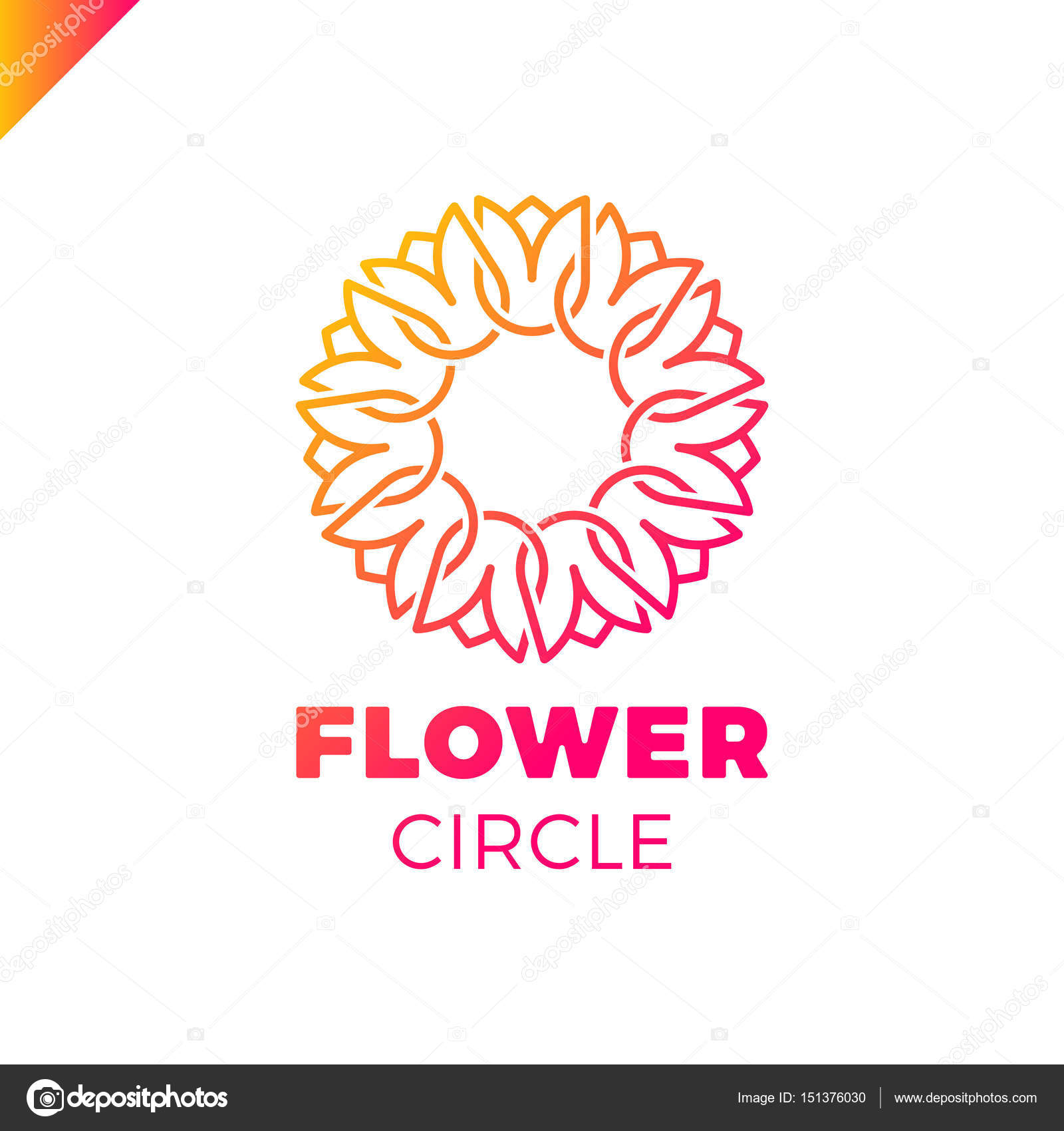Flower Logo circle abstract design vector template. Tulip SPA icon ...