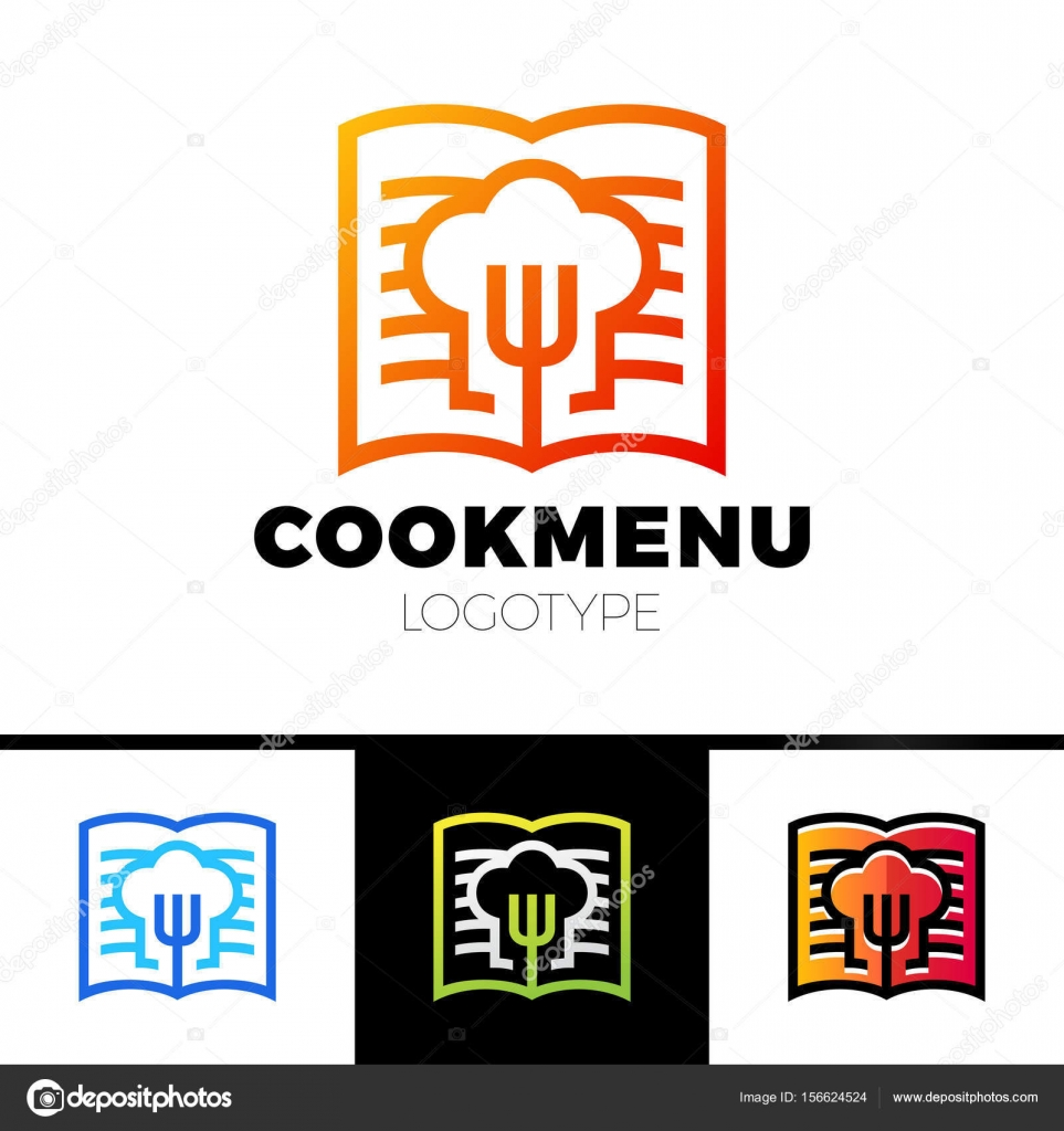 Receta o libro plantilla de diseño de cocina. Menú con el icono de ...