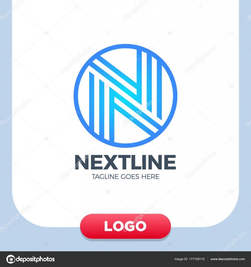 Kreatives Schreiben N Logo Vektor Entwurfsvorlage Linear. Typ ...