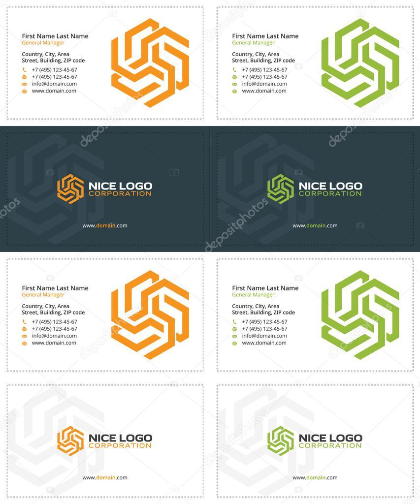 pentagram business card 1 — Stock Vector © VadimSoloviev #128339522