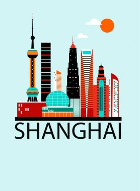 Shanghai city postcard