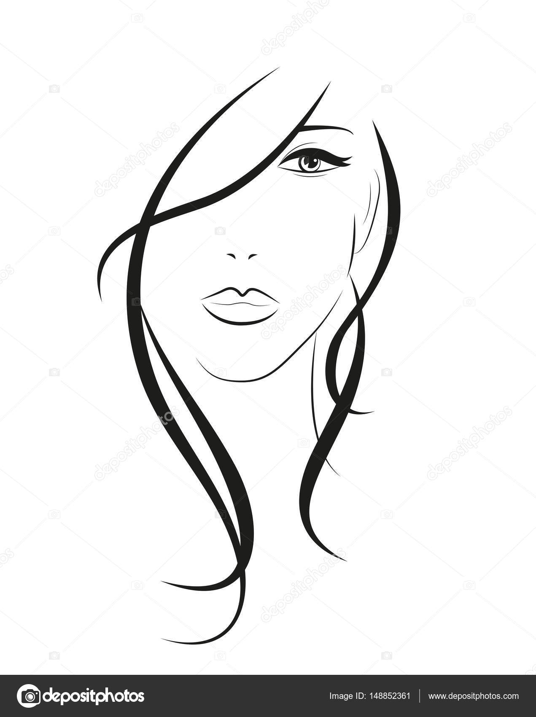 Imágenes: rostro de mujer para colorear   avatar de rostro de mujer ...