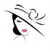 avatar tvář mladá žena v klobouku