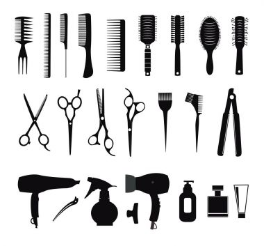 Collection of Hairdressing icons