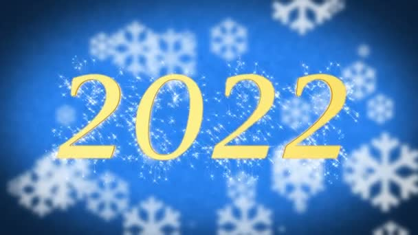2022 creative New Year celebration message on blue snowy background ...
