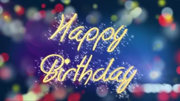 Farbigen Hintergrund mit Happy Birthday Botschaft, kreative Gruß ...