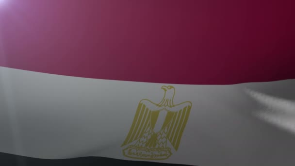 Flag Of Egypt Waving On Flagpole In The Wind National Symbol Of