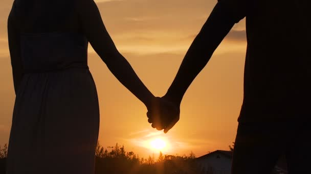Couple Separating Their Hands At Sunset Love Story Ending Family