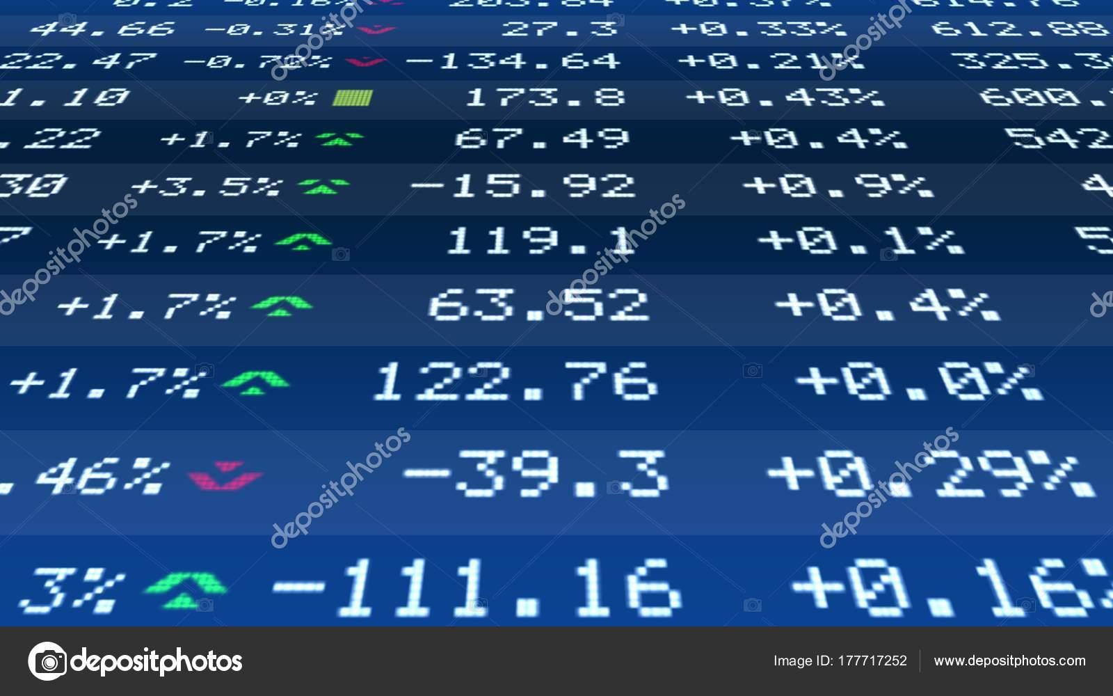 dab4e4950a Preventivo modificare dati il ticker di borsa in tempo reale, stabilità  finanziaria, business– immagine stock