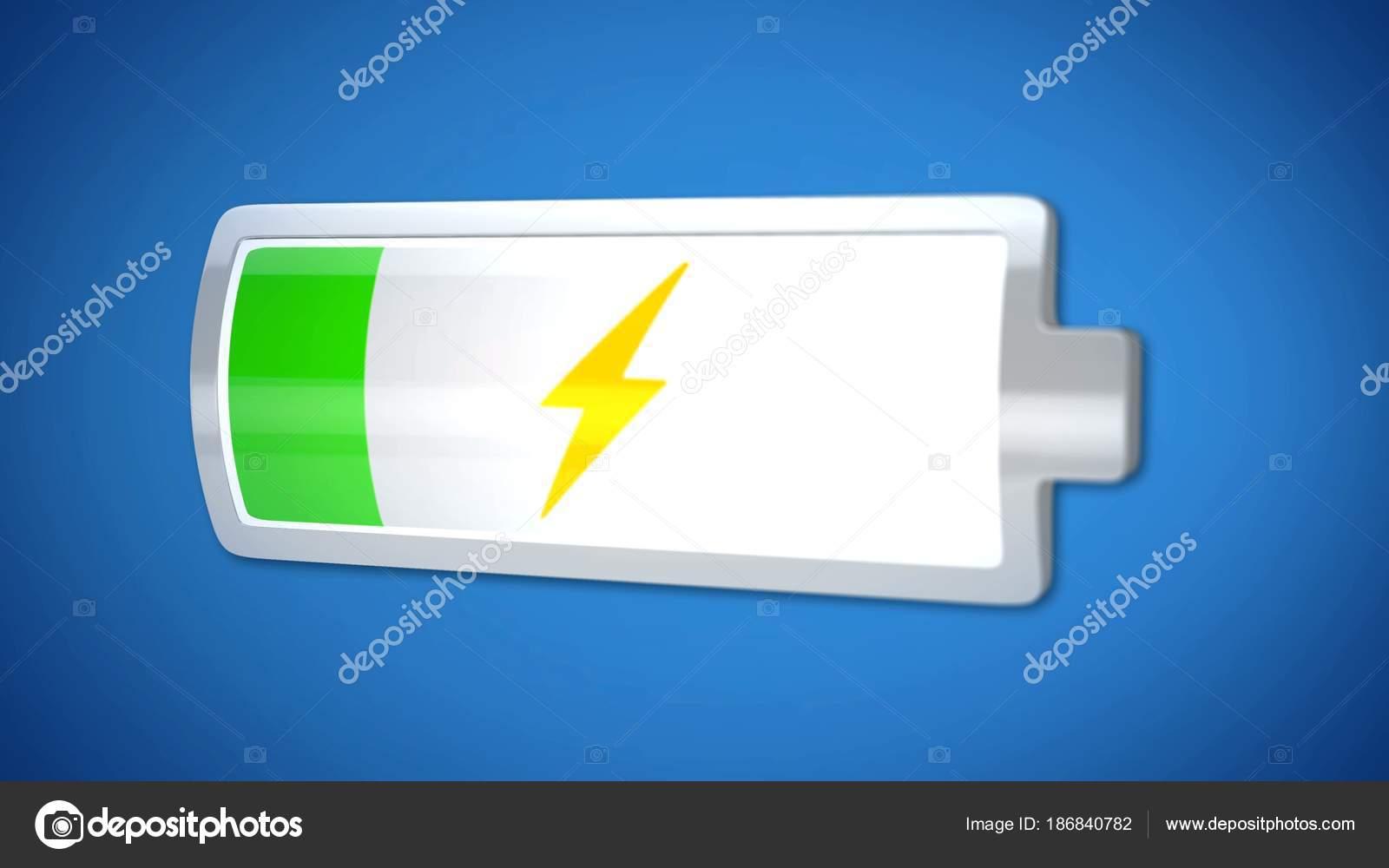 Niedrige Batterieladung, 3d Icon, Stromversorgung, kurze Lebensdauer ...