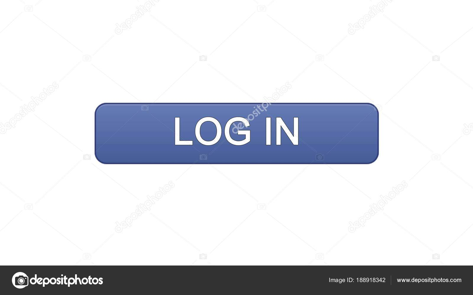 Log in web interface button violet color, online application