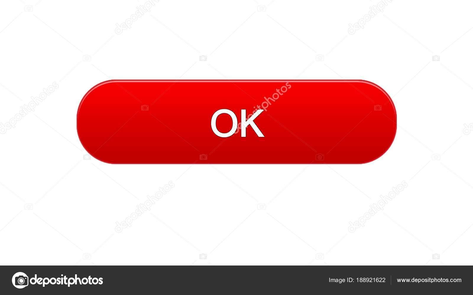 ОК, web интерфейс кнопку красный цвет, интерактивная программа, Интернет  Дизайн сайта, видеоматериал — Фото автора motortion be69e55e4c5