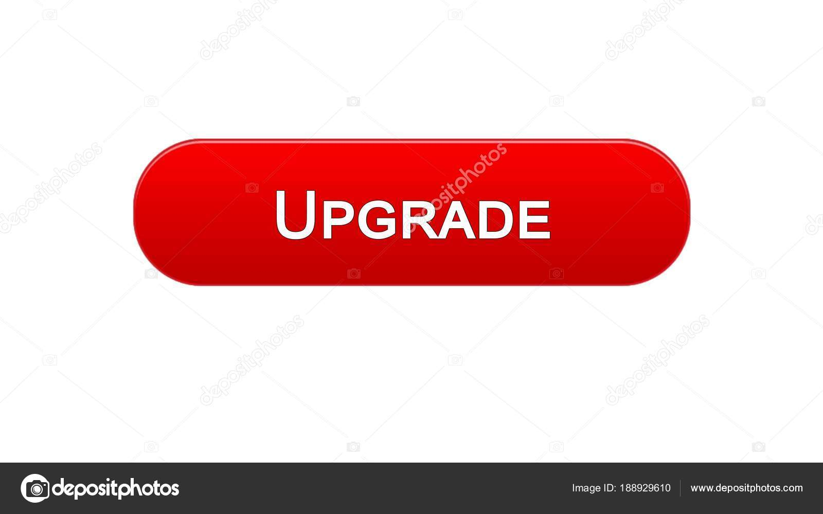 Upgrade Web Interface Button Red Color Software Installation Program Update Stock Photo